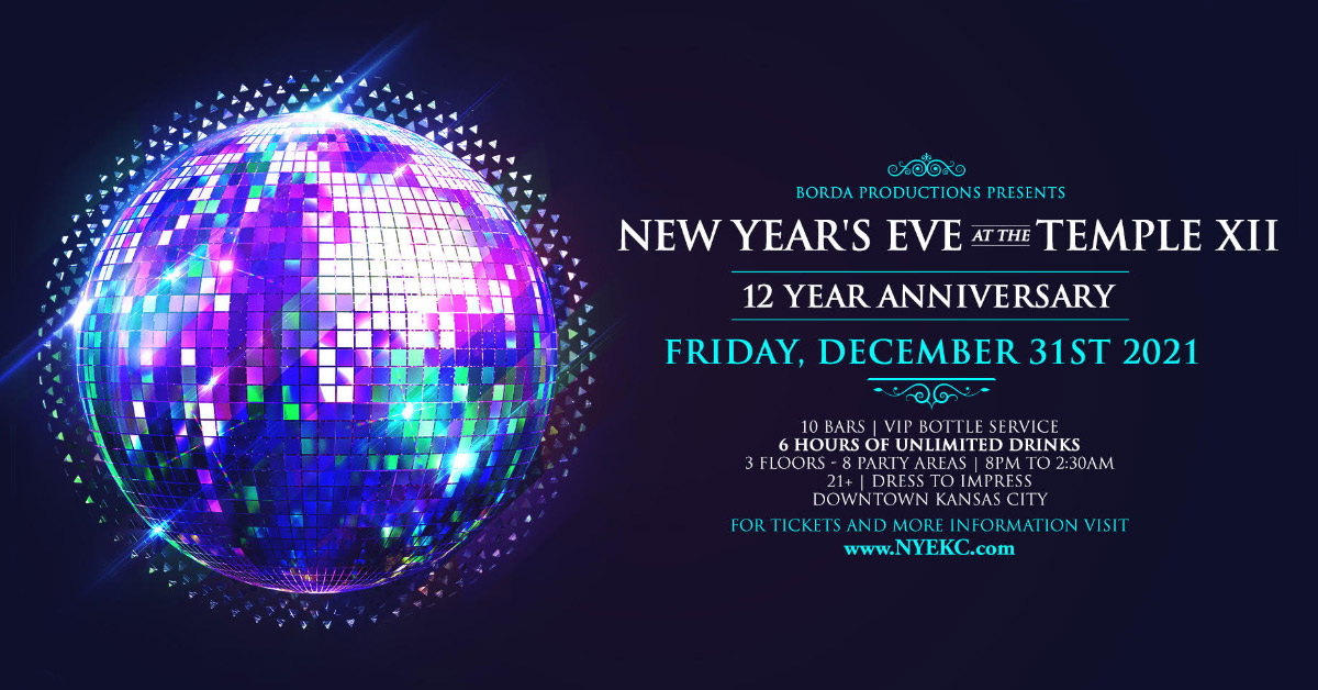 Kansas City New Year s Eve Party 2018 NYE at The Temple ...